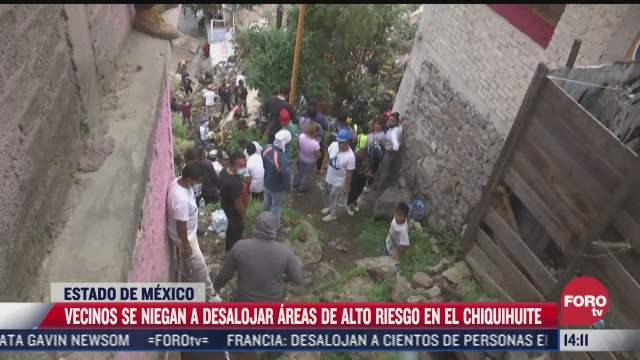 llaman a desalojar 141 casas tras nuevo deslave del cerro del chiquihuite