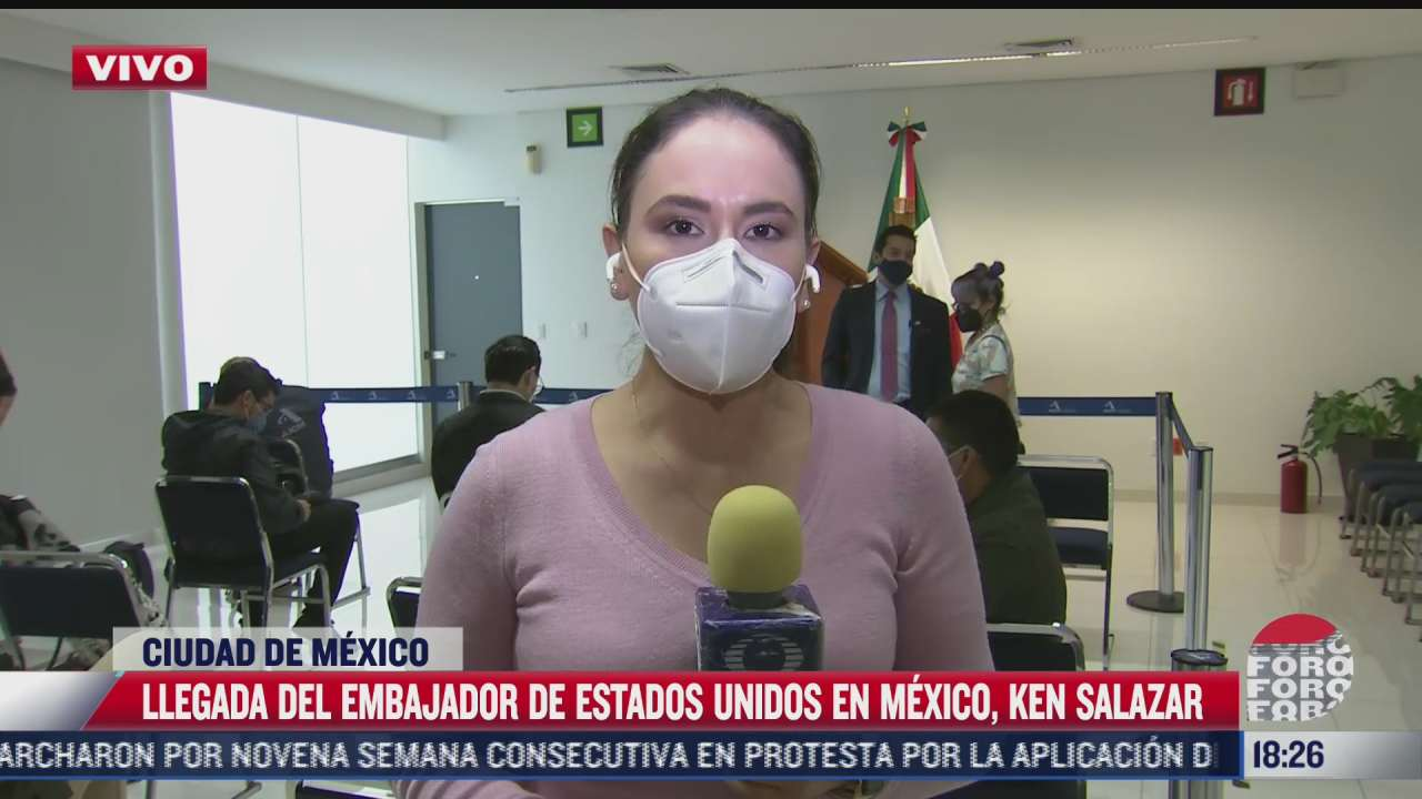 llegada del embajador de eeuu en mexico ken salazar