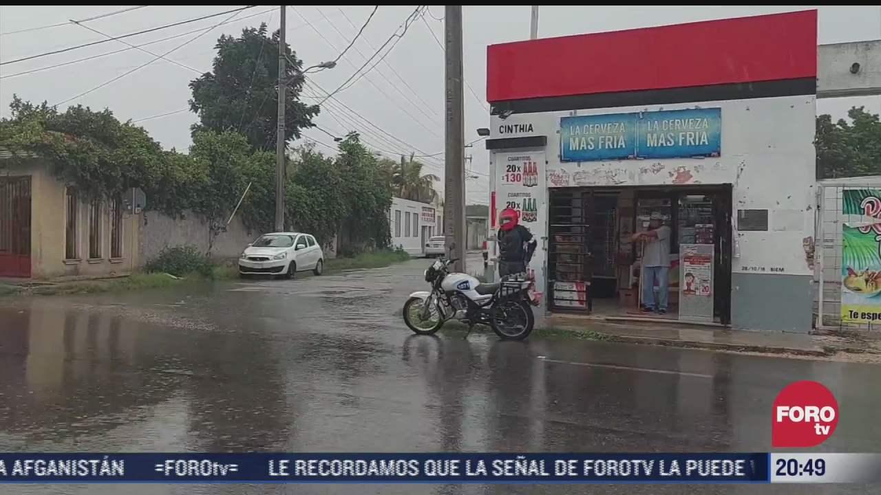lluvias dejan sin luz regiones de yucatan y quintana roo