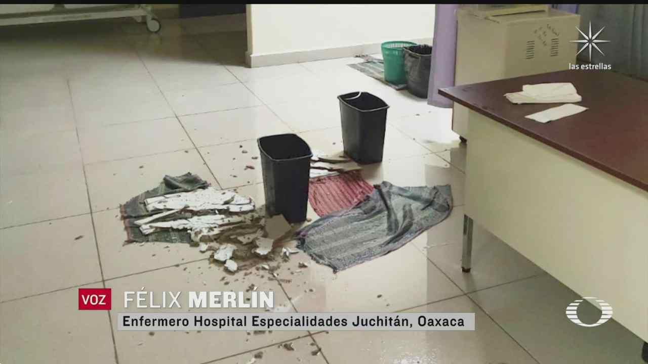 lluvias inundan hospital de juchitan oaxaca