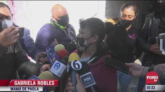 madre de paola agradece a vecinos de chiquihuite permitirle encontrar los cuerpos de su hija y nieto