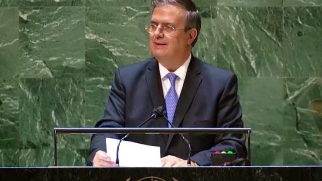 Marcelo Ebrard llama a garantizar distribución de vacunas equitativa en la ONU