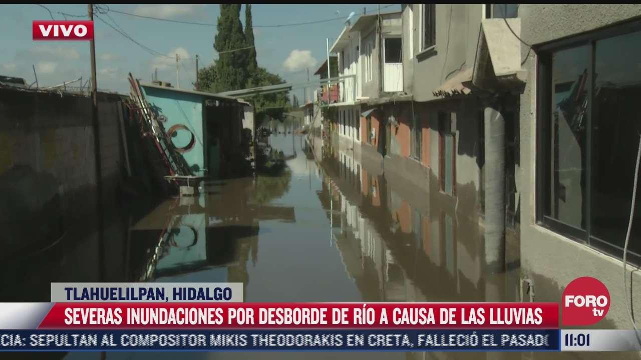 mas de 200 casas estan afectadas por desborde de rio en tlahuelilpan hidalgo