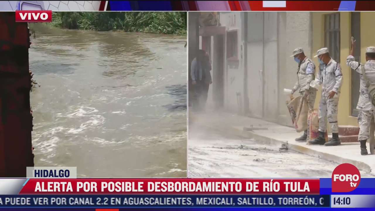 mas de 35 mil personas en alerta por posible desbordamiento del rio tula