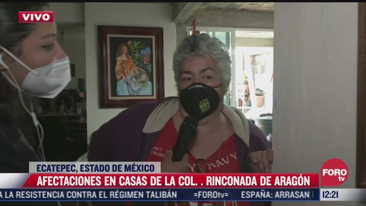mi padre se encuentra muy delicado de salud dice senora afectada por inundaciones en ecatepec