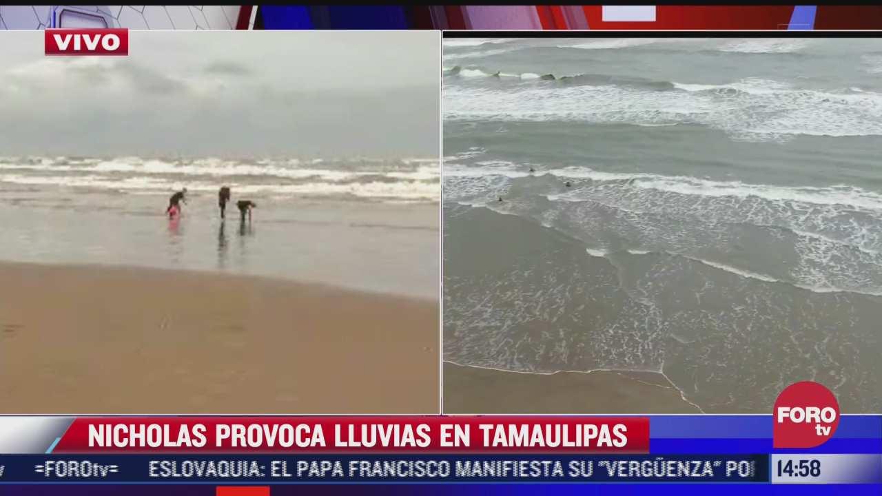 nicholas solo provoca lluvias en tamaulipas