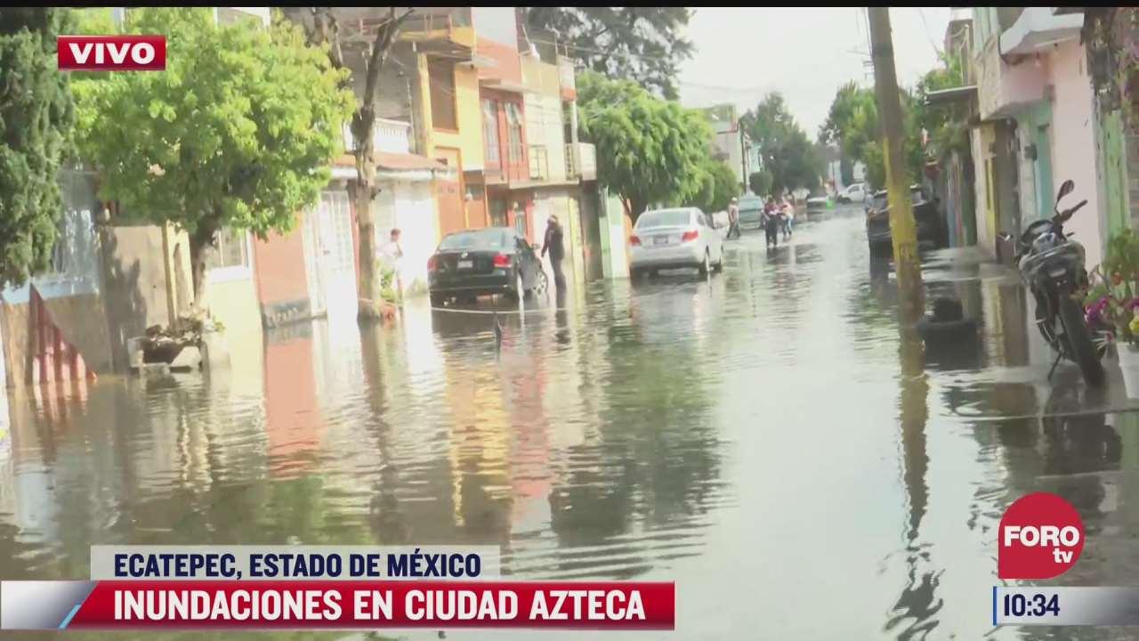 no puedo quedarme en mi casa por las inundaciones dice afectado de la colonia ciudad azteca