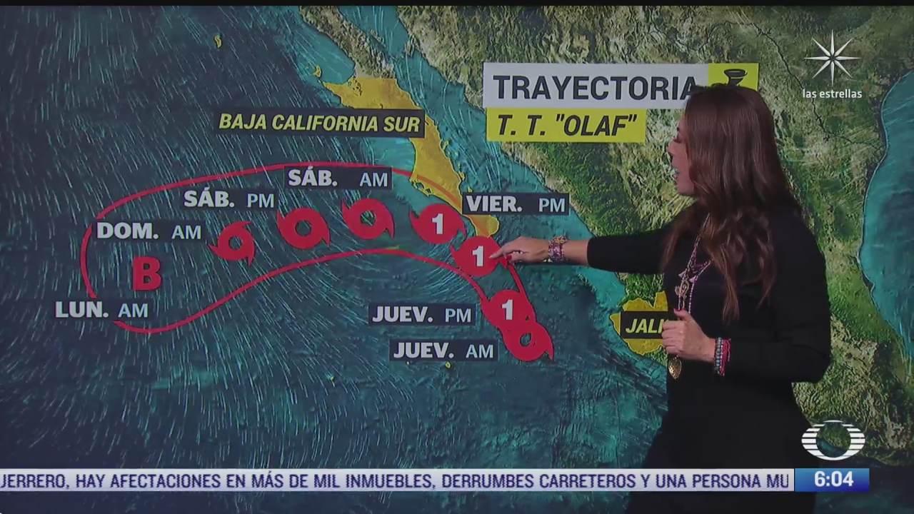 olaf podria intensificarse a huracan al suroeste de baja california sur