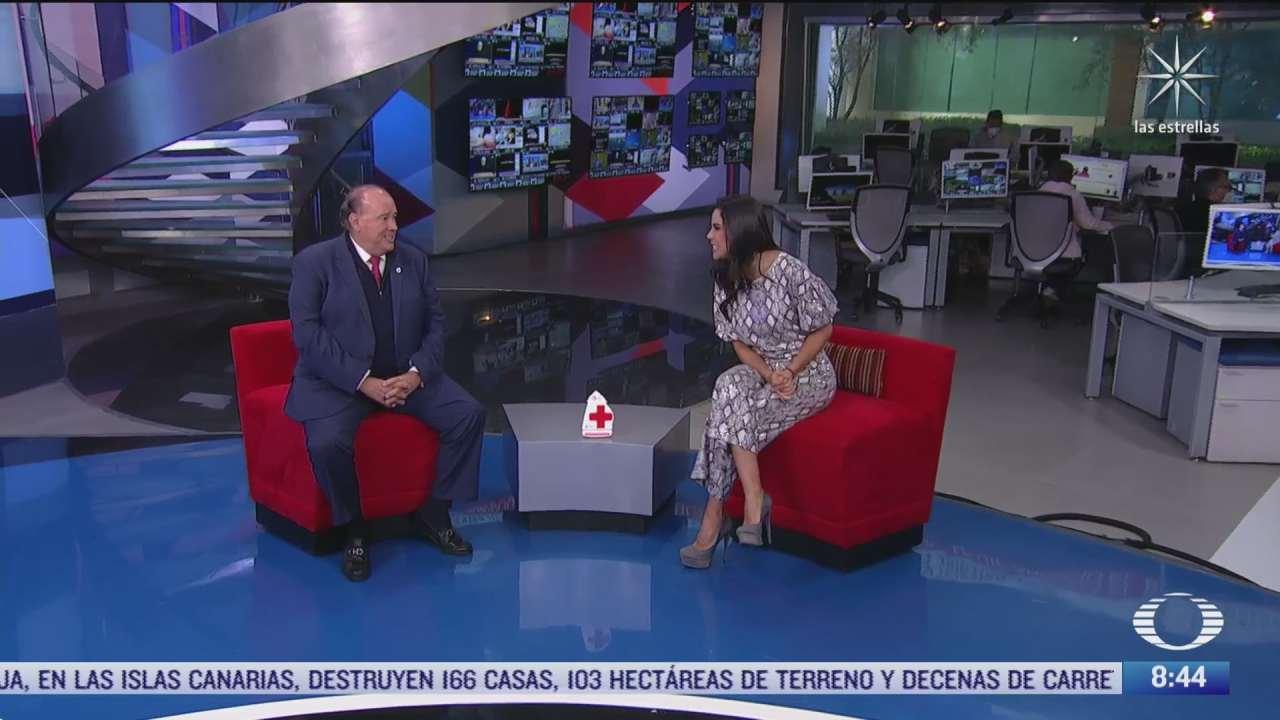 paola rojas entrevista al presidente de la cruz roja mexicana sobre la colecta nacional