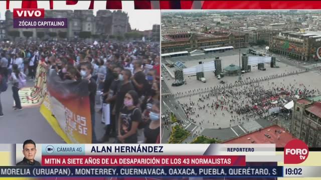 realizan mitin a siete anos de desaparicion de los 43 normalistas de ayotzinapa