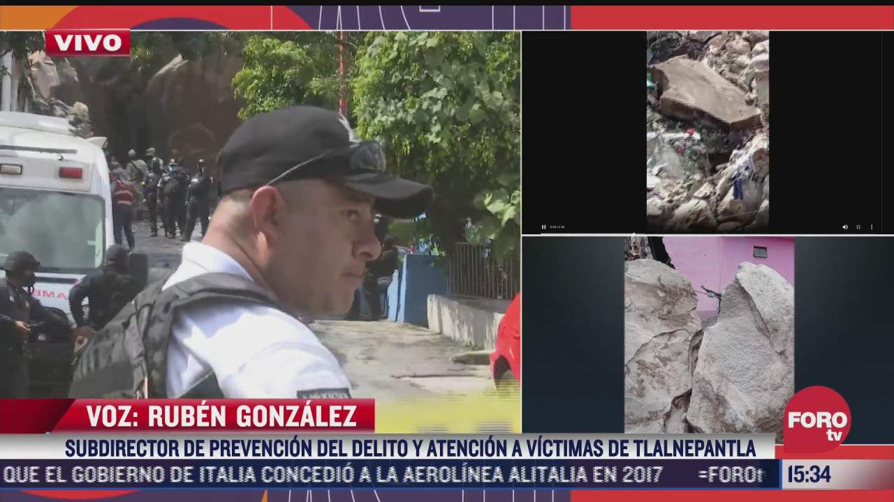 reportan cuatro heridos y varios desaparecidos tras derrumbe en cerro del chiquihuite