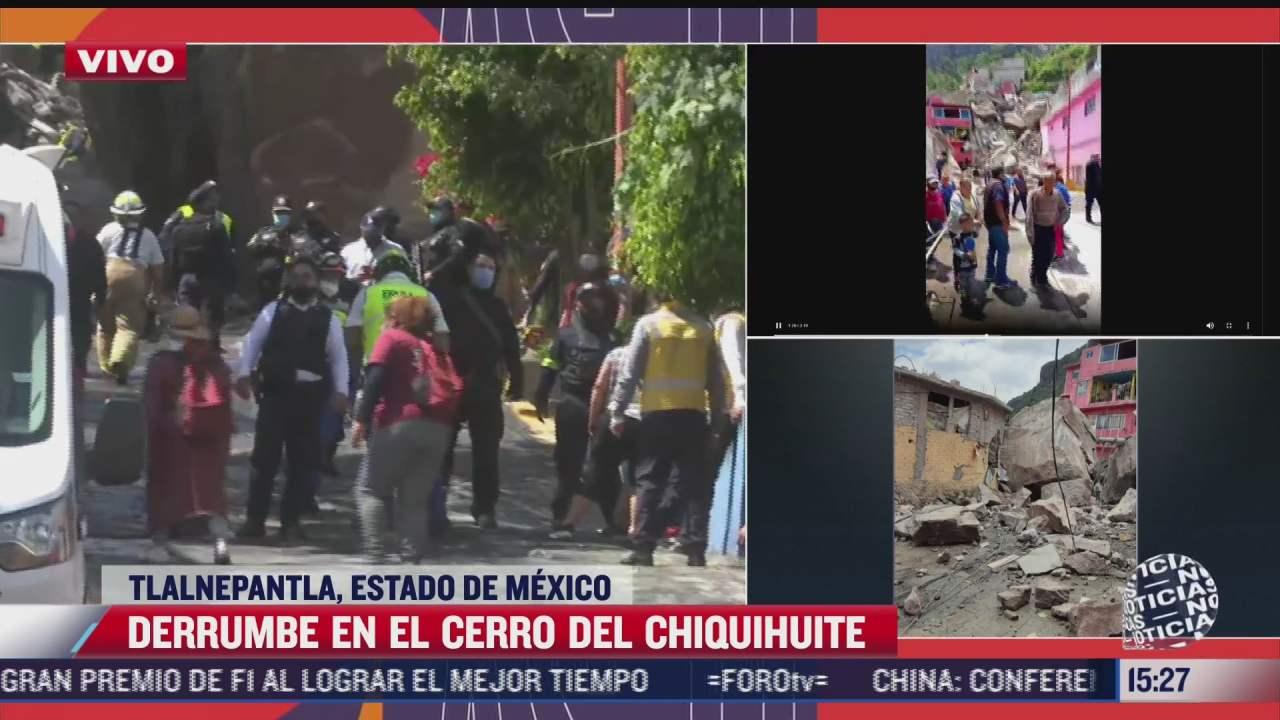 reportan cuatro personas desaparecidas por derrumbe en cerro del chiquihuite
