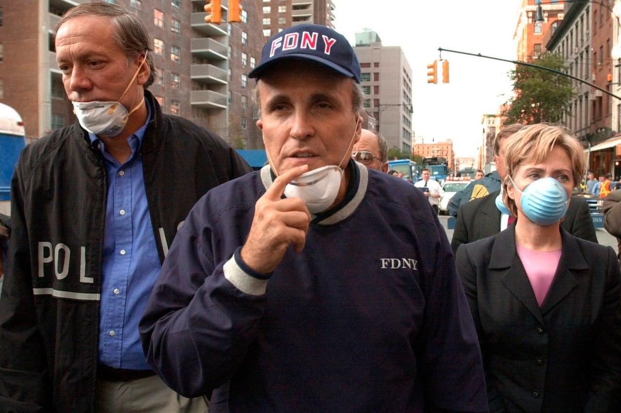 Rudy Giuliani, Osama bin Laden, George W Bush, 11 de septiembre, atentados terroristas, collage