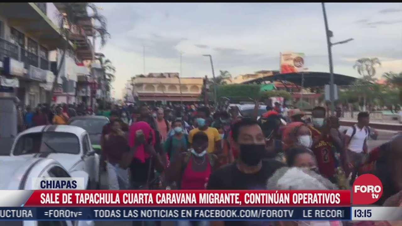 sale de tapachula cuarta caravana migrante