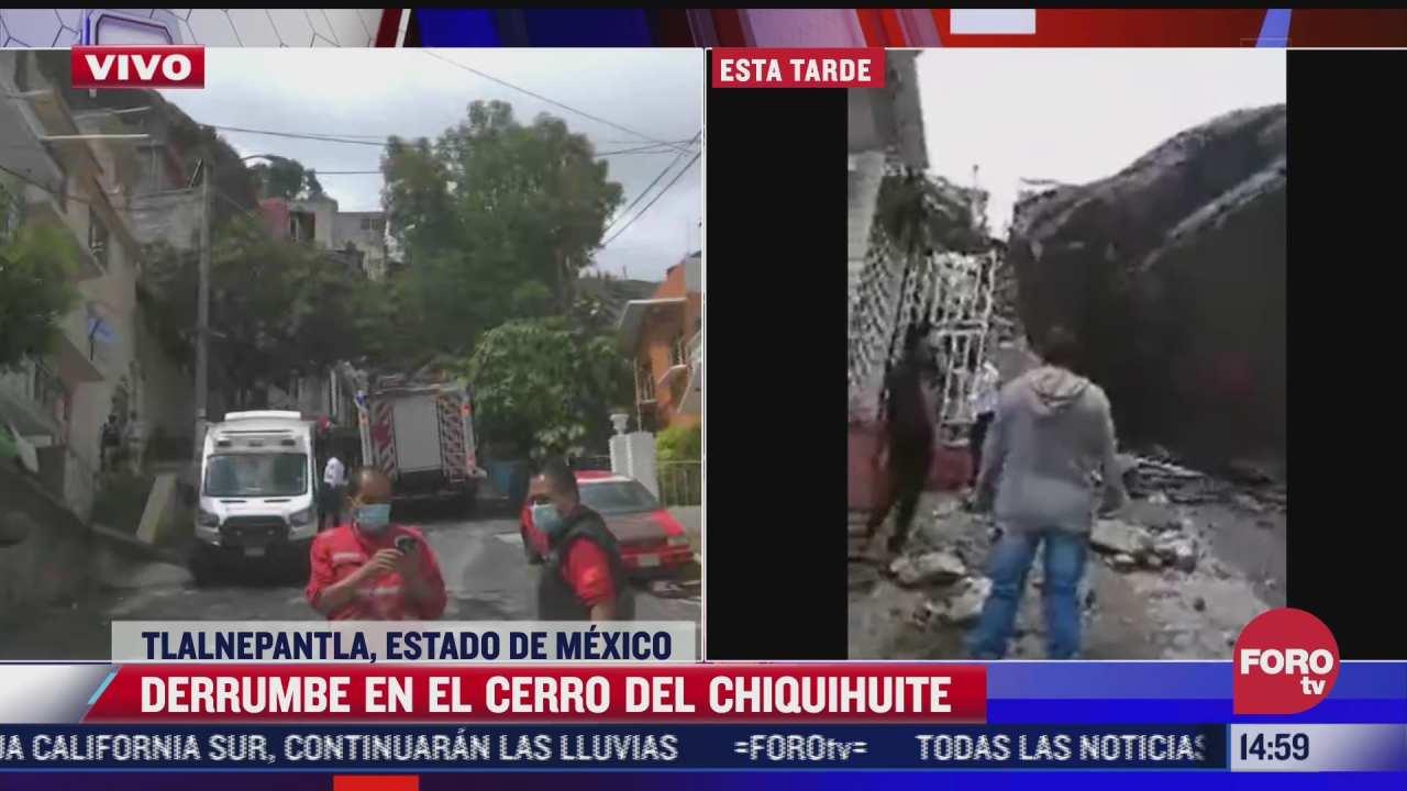 se derrumba parte del cerro del chiquihuite cuatro personas estan desaparecidas