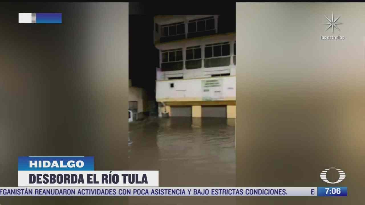 se desborda rio en tula hidalgo nueve colonias inundadas