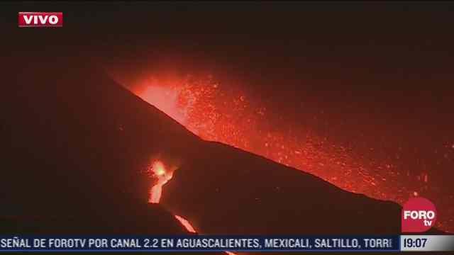 se intensifica fase eruptiva del volcan cumbre vieja en espana
