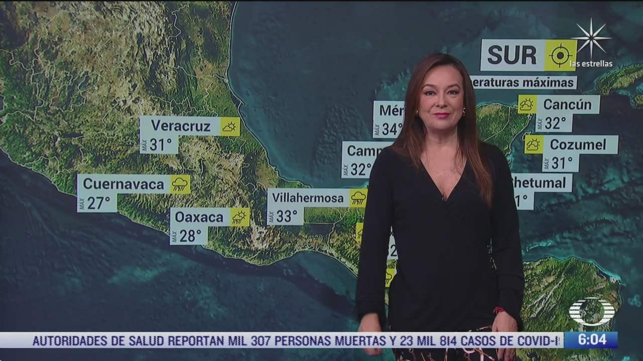 se pronostican lluvias en gran parte de mexico por la onda tropical
