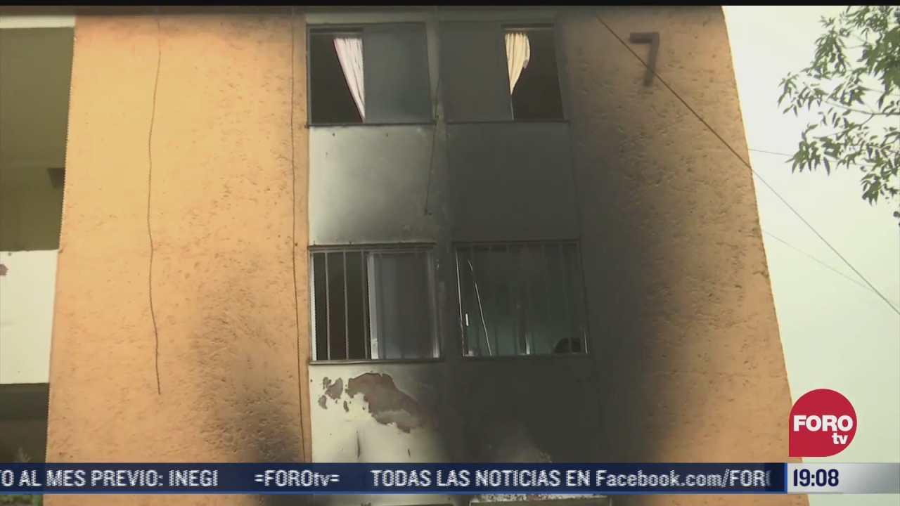 se registra incendio en edificio de la alcaldia iztapalapa