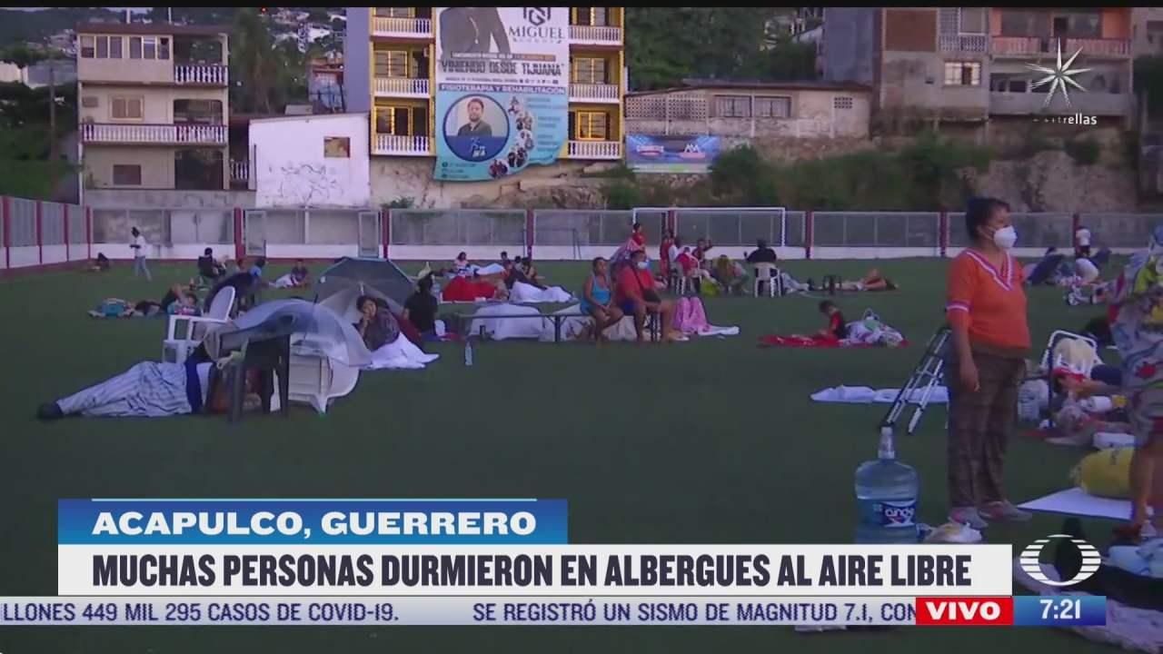 se registra replica de sismo en acapulco durante enlace en vivo de corresponsal de noticieros televisa