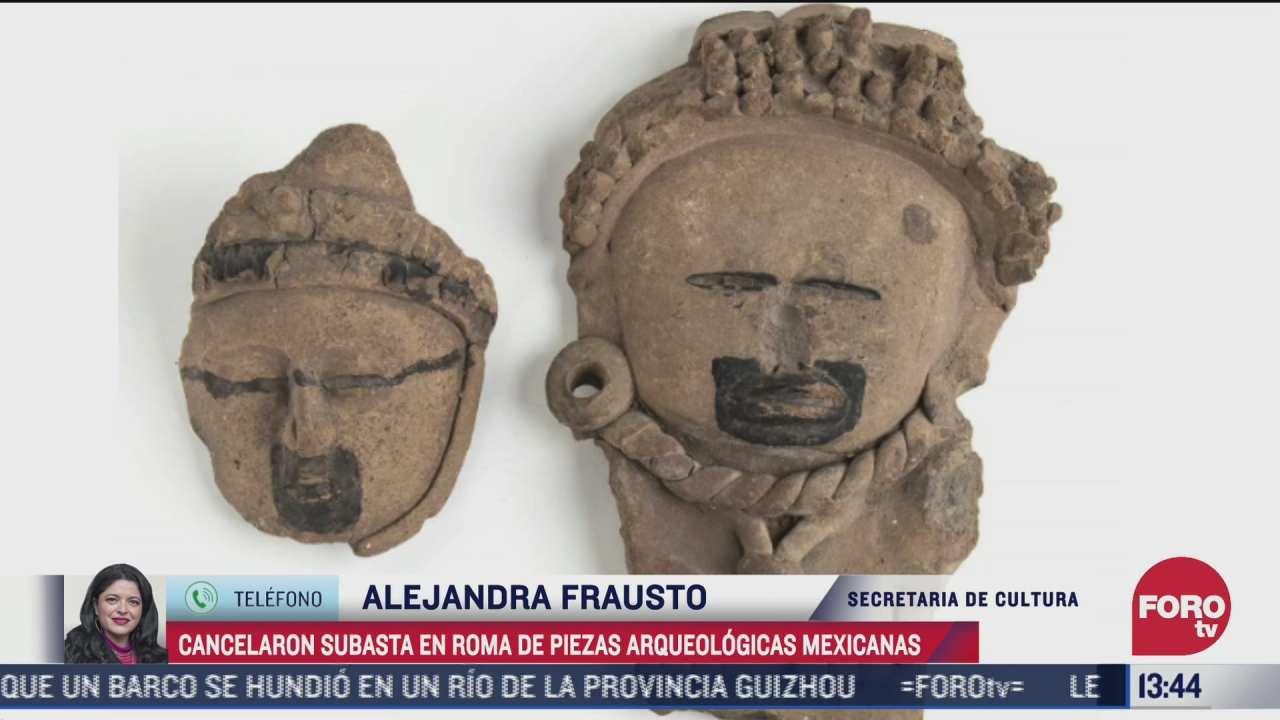 secretaria de cultura explica que se logro cancelar la subasta de piezas arqueologicas mexicanas en italia