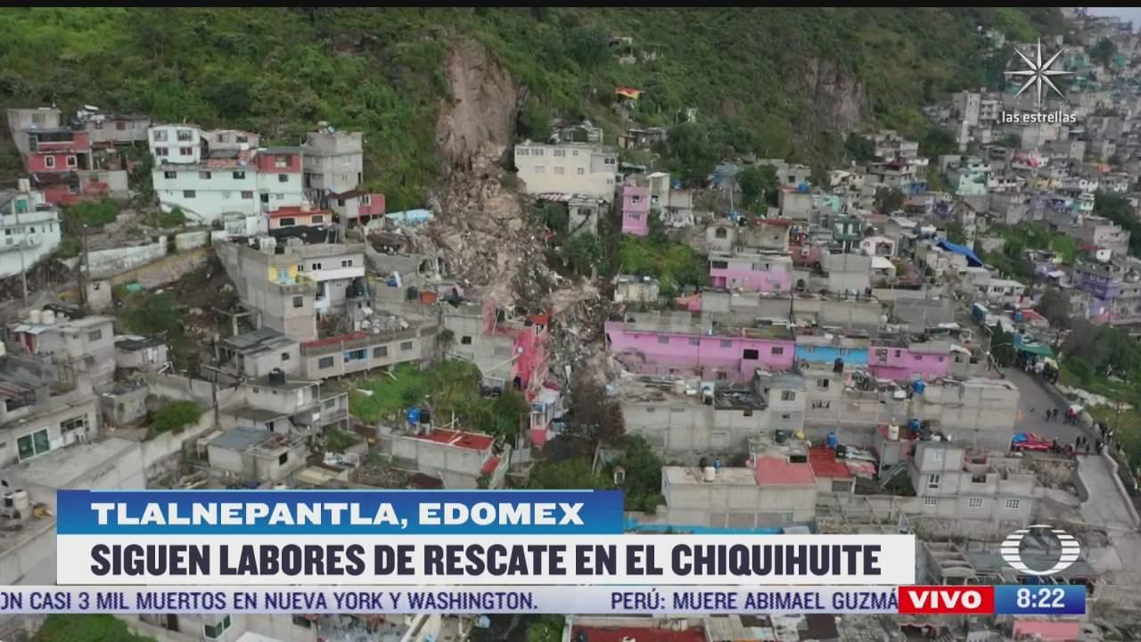 siguen labores de rescate en el cerro del chiquihuite