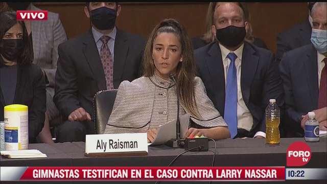 simone biles testifica en el senado de eeuu sobre abusos de larry nassar contra gimnastas