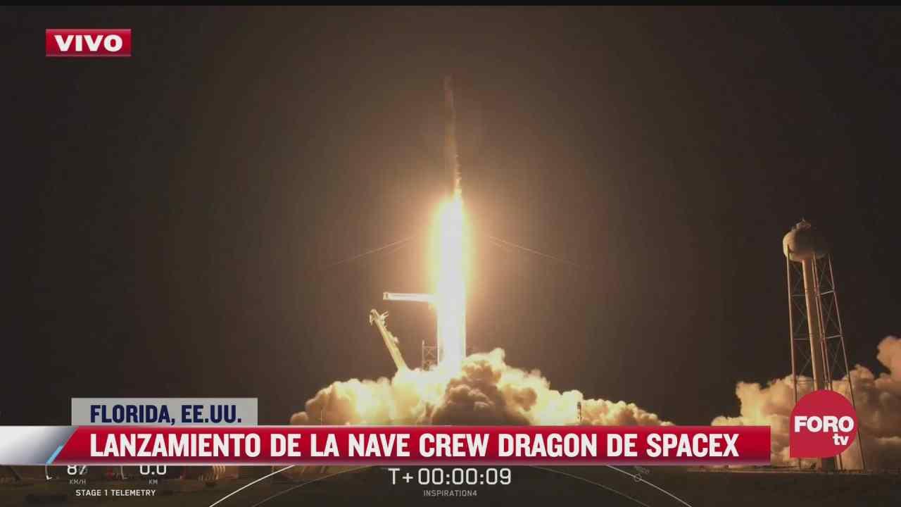 spacex lanza mision de turismo espacial de tres dias