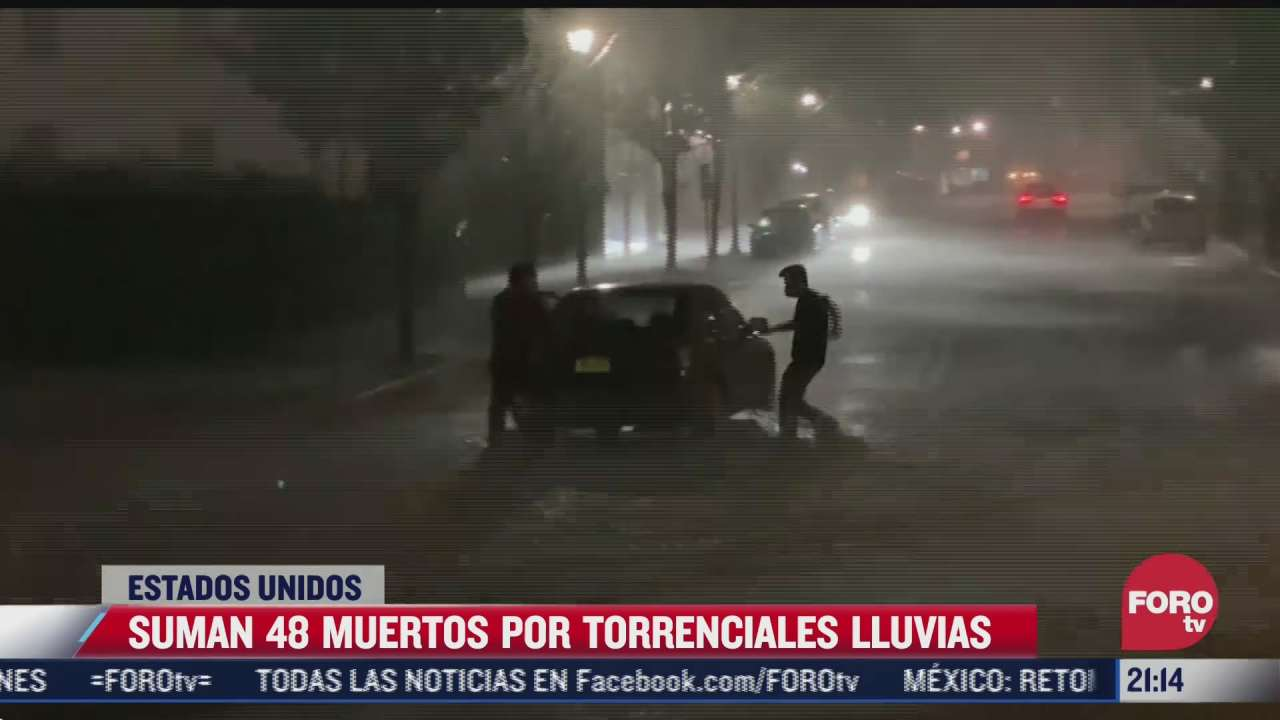 suman 48 muertos por lluvias torrenciales en eeuu