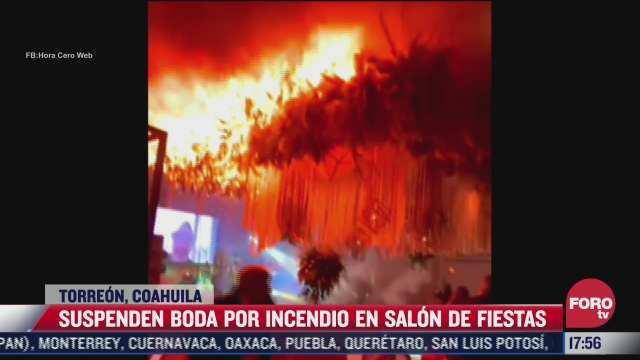 suspenden boda tras incendio provocado por la pirotecnia