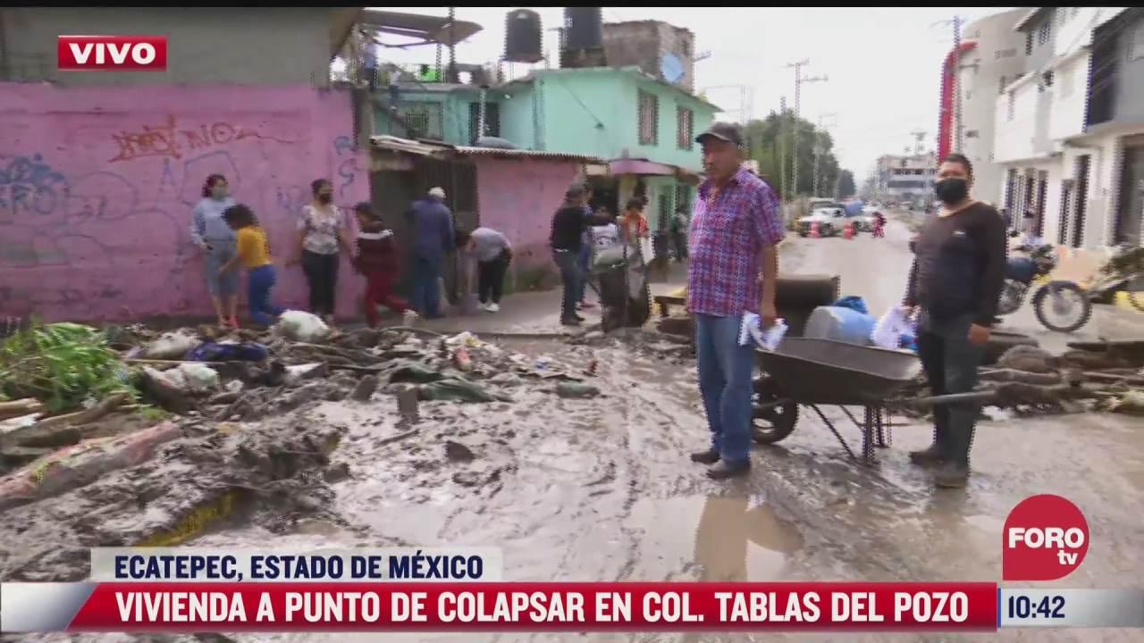 vecinos bloquean avenida en colonia tablas del pozo ecatepec piden ayuda tras inundaciones