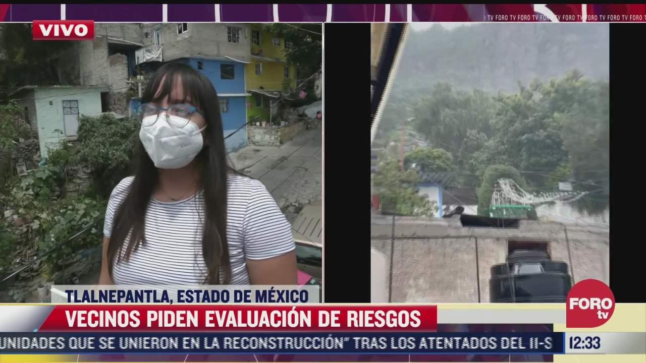 vecinos piden evaluar riesgos tras desgajamiento del cerro del chiquihuite en tlalnepantla