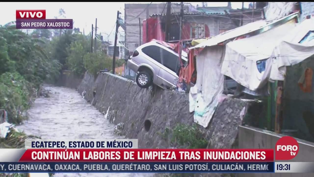 vecinos temen colapso de casa tras inundaciones en san pedro xalostoc en ecatepec