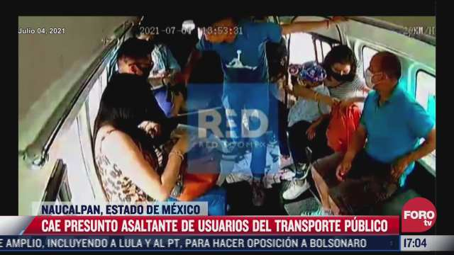 video detienen a hombre que asalto transporte publico sin importar que hubiera un nino