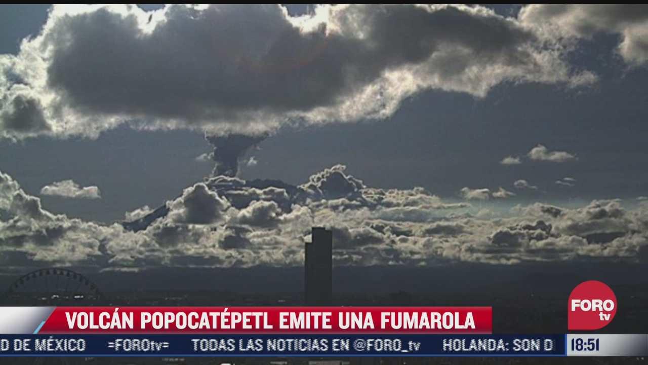 video volcan popocatepetl emite gran fumarola