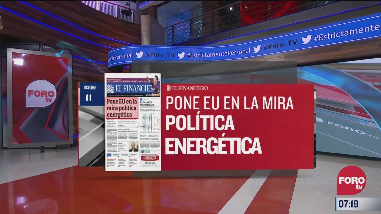 analisis de las portadas nacionales e internacionales del 11 de octubre del