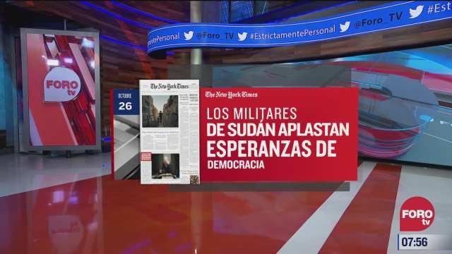 analisis de las portadas nacionales e internacionales del 26 de octubre del