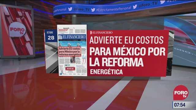 analisis de las portadas nacionales e internacionales del 28 de octubre del