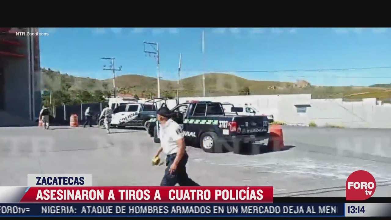 asesinaron a tiros a 4 policias en zacatecas