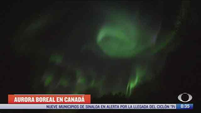aurora boreal ilumina cielo de edmonton canada