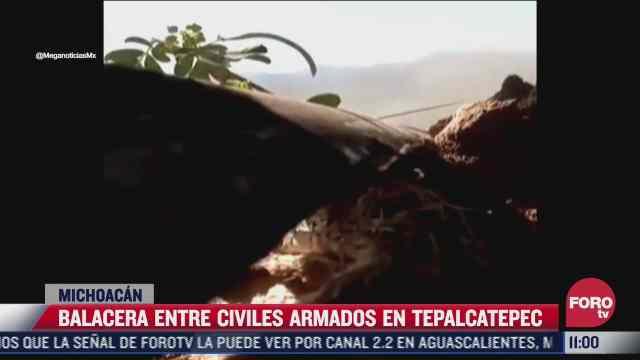 balacera entre civiles armados en tepalcatepec michoacan