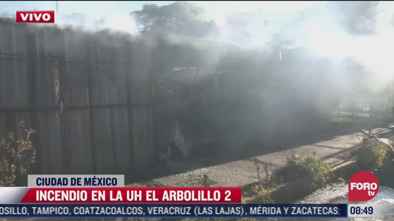 bomberos sofocan incendio en la unidad habitacional el arbolillo 2 cdmx