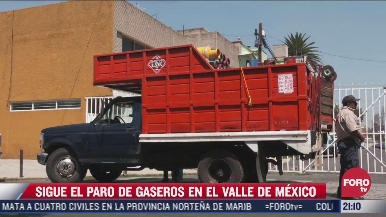 capitalinos sufren paro de gaseros en el valle de mexico