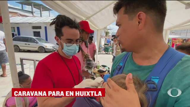 caravana migrante hace una pausa rumbo a la cdmx
