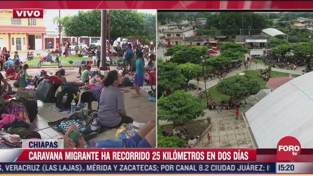 caravana migrante recorre 25 kilometros en 2 dias