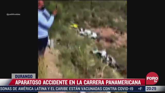 carrera panamericana en durango deja aparatoso accidente