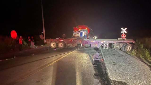 Cierre parcial de circulación por accidente en autopista Ciudad Victoria-Monterrey (Twitter: @GN_Carreteras)