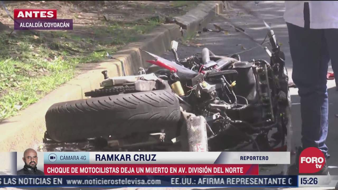 choque de motociclistas deja un muerto en cdmx