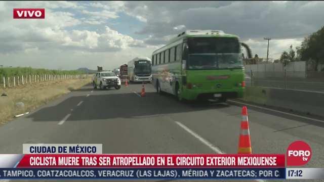 ciclista muere tras ser atropellada en circuito exterior mexiquense
