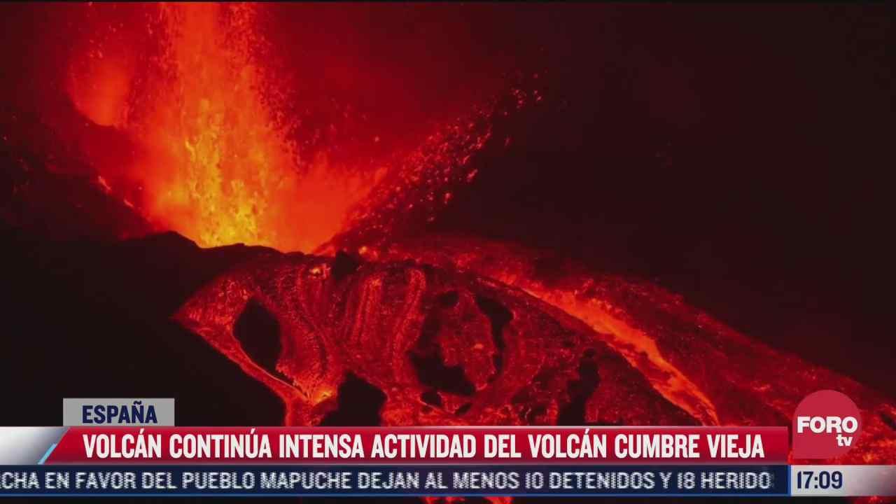 continua intensa actividad del volcan cumbre vieja